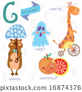 Very cute alphabet. G letter.  16874376