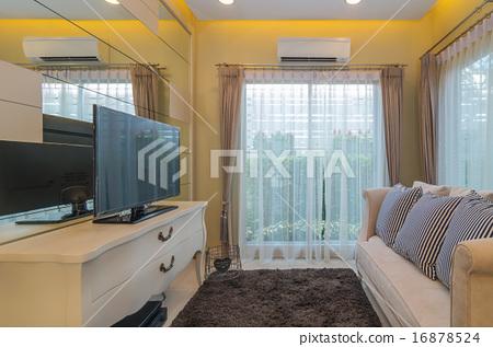 BANGKOK, THAILAND - AUG 10 : Interior Living room of Vista Park 16878524