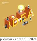 vector, light, bulb 16882876