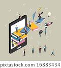 교육, 3d, 통신 16883434