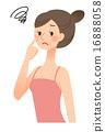 皱褶 夫人 雌 16888058