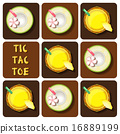 Tic-Tac-Toe of pineapple juice and coconut water 16889199