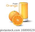 橘子汁 橙汁 橙色 16890029