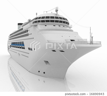 Luxury white cruise ship 16890943