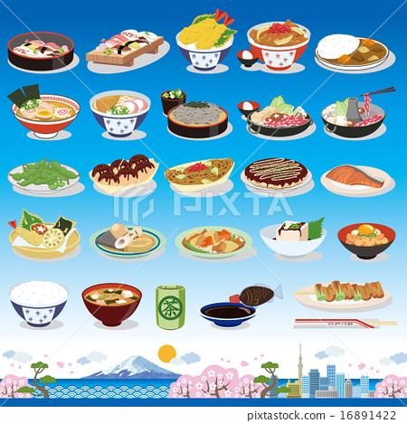 矢量 日式料理 日本料理 16891422