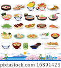vector, vectors, japanese food 16891423