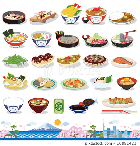 日本食物圖標 16891423