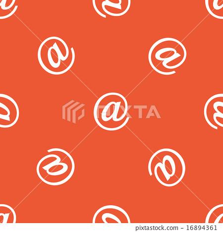Orange at-sign pattern 16894361