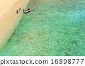 大海 海事的 蓝色的水 16898777