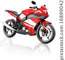 Motorcycle Motorbike Bike Riding Rider Contemporary Red Concept 16899042