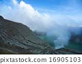 Volcano Ijen, Java, Indonesia, bright colorful 16905103