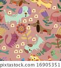 seamless, cute, childish 16905351