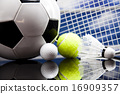 Four Sport, a lot of balls and stuff 16909357