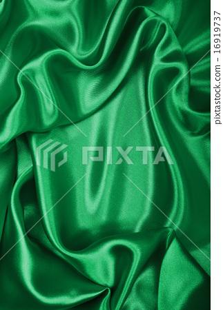 Smooth elegant green silk or satin texture  16919737