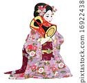 手鼓 和服 歌舞伎 16922438