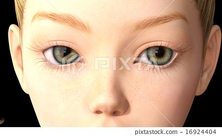 컬러 콘택트 렌즈 perming3DCG 일러스트 소재 16924404