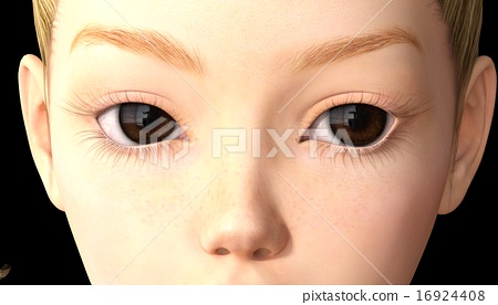 Color contact lens perming 3DCG illustration material 16924408