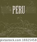 Peru  landmarks. Retro styled image. 16925458
