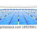 游泳池 水池 車道標誌 16929901