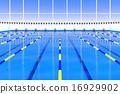 游泳池 水池 車道標誌 16929902
