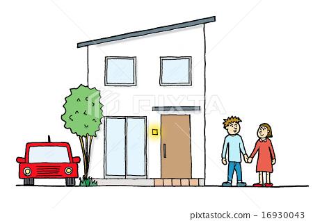집과 자동차와 부부 16930043