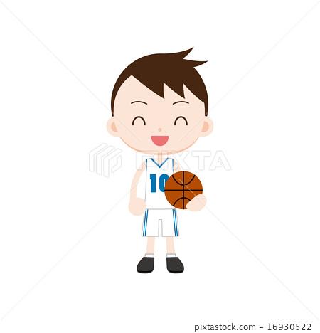 A boy with basketball 16930522