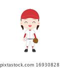 야구 소녀 공을 글러브 16930828