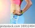 sport woman wearing smart watch 16932464