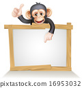 drawing, primate, monkey 16953032