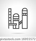 Brickworks plant line vector icon 16955572