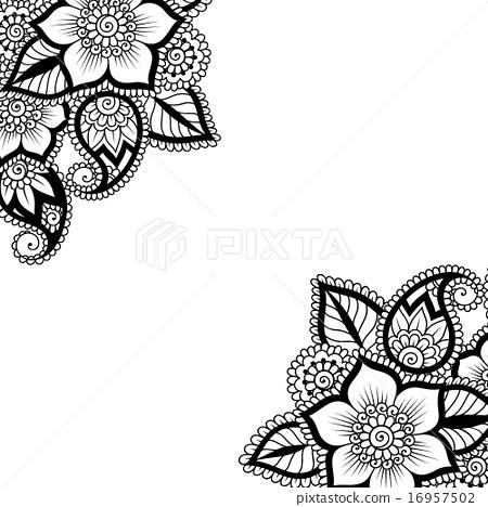 flower vector ornament corner stock illustration 16957502 pixta flower vector ornament corner stock