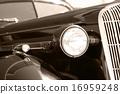The old vintage black car 16959248