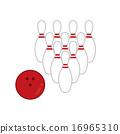 bowling, vector, vectors 16965310