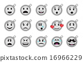Set of smiley empty coffee cup icons 16966229