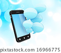 smartphone with speech bubbles 16966775