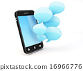 smartphone with speech bubbles 16966776