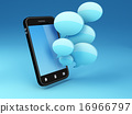 smartphone with speech bubbles 16966797
