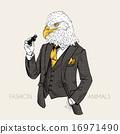 eagle dressed up in tweed suit 16971490