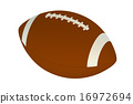 american football ball 16972694