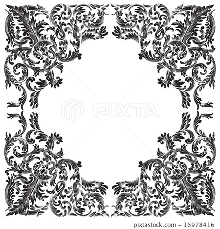 vintage baroque frame - Stock Illustration [16978416] - PIXTA