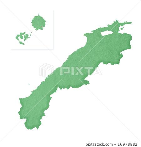 插圖素材: 日本山陰地方 藍綠色 翠綠