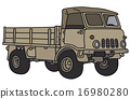 military, old, truck 16980280