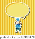 vector, dog, hat 16993478