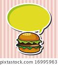 漢堡 向量圖 向量 16995963