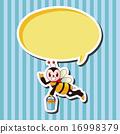 熊蜂 蜜蜂 向量圖 16998379