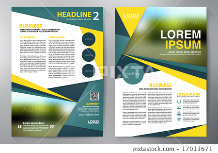 Brochure design a4 template  Vector illustration - Stock