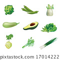 Set of green vegetables 17014222