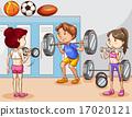 People working out in gym 17020121