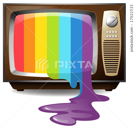 Colour dripping from television 17022535
