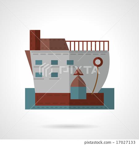 Passenger ship flat vector icon 17027133